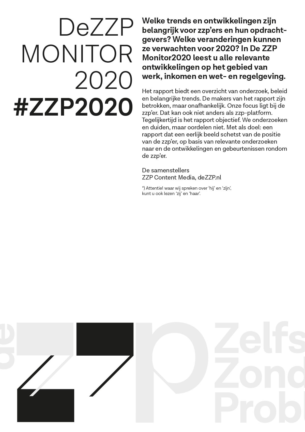 DeZZP Monitor 2020 #ZZP2020